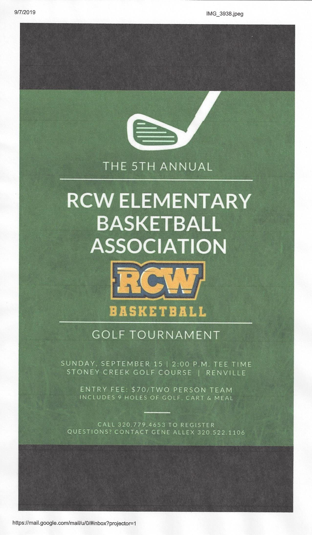 5th Annual RCW Elementry Basketball Association: Golf